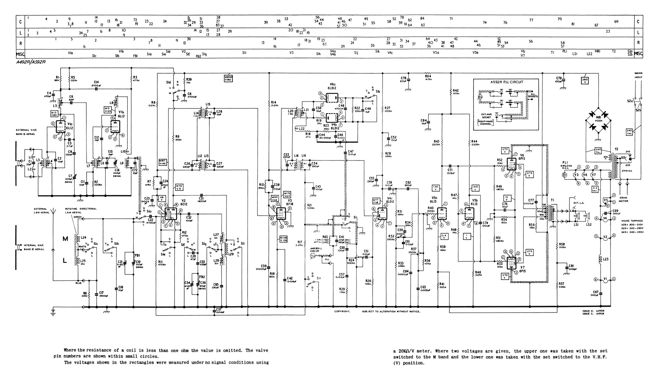 the diagram dungeon 6 the murphy a592r radiogram is covered in the a492r diagram