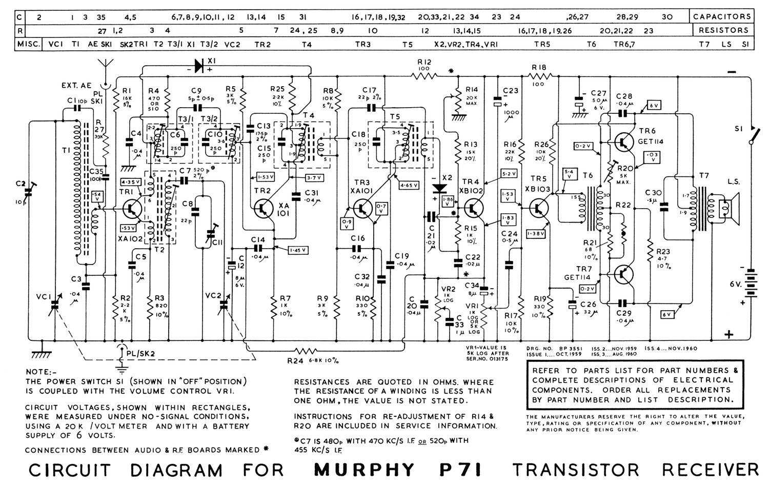 schematic diagram of transistor radio